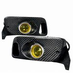 1993 Honda Civic Carbon Fiber Yellow OEM Style Fog Lights