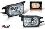 2005 Mercedes Benz C Class Smoked OEM Style Fog Lights