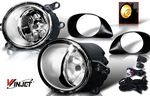2008 Toyota Yaris Hatchback Smoked OEM Style Fog Lights Kit