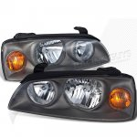 Hyundai Elantra 2004-2006 Black Replacement Headlights