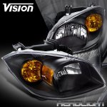 Pontiac Pursuit 2005-2006 Headlights with Black Housing