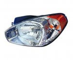Hyundai Accent 2007 Left Driver Side Replacement Headlight