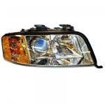 2004 Audi A6 V6 Right Passenger Side Replacement Headlight