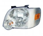 2008 Ford Explorer Trac Clear Left Driver Side Replacement Headlight