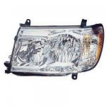 2007 Toyota Land Cruiser Left Driver Side Replacement Headlight