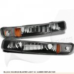 GMC Sierra 1999-2006 Black Bumper Lights