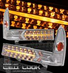 2002 Ford F250 Super Duty Clear LED Style Front Bumper Lights