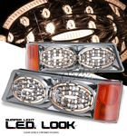 2003 Chevy Silverado Chrome LED Style Bumper Lights