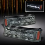 Chevy Silverado 2500HD 2003-2006 Smoked LED Bumper Lights