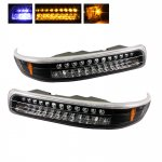 2000 Chevy Silverado Black LED Bumper Lights