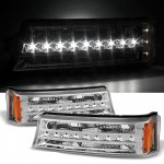 Chevy Avalanche 2003-2006 Clear LED Bumper Lights