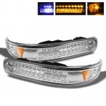 Chevy Silverado 1999-2002 Clear LED Bumper Lights