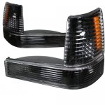 Jeep Grand Cherokee 1993-1998 Black Bumper Lights and Corner Lights Set