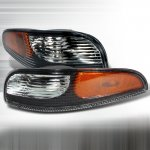 2004 Chevy Corvette Bumper Lights Black