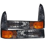 Ford F250 Super Duty 1999-2004 Bumper Lights and Corner Lights Smoked