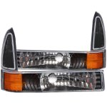 2002 Ford F250 Super Duty Bumper Lights and Corner Lights Black