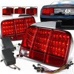 2006 Ford Mustang Red Sequential LED Tail Lights