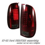 2000 Ford F150 Red and Smoked LED Tail Lights