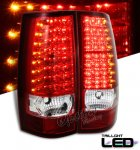 2011 Chevy Suburban Red and Clear LED Tail Lights