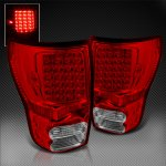 2011 Toyota Tundra Red and Clear LED Tail Lights