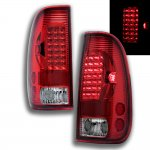 2007 Ford F350 Super Duty Red LED Tail Lights