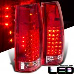 1990 Chevy 1500 Pickup LED Tail Lights Red and Clear
