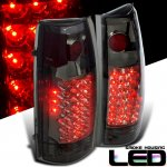 1990 Chevy 1500 Pickup LED Tail Lights Smoked Lenses