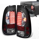 2007 Ford F350 Super Duty Black and Clear LED Tail Lights