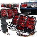 2005 Ford Mustang Black Sequential LED Tail Lights