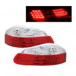2002 Porsche Boxster Depo Red and Clear LED Tail Lights