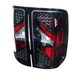 2009 GMC Sierra Depo Carbon Fiber LED Tail Lights