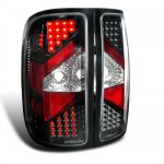 2011 GMC Sierra Depo Black LED Tail Lights
