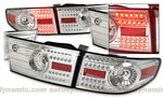 Honda Accord Sedan 2003-2005 Depo Clear LED Tail Lights