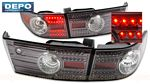 Honda Accord Sedan 2003-2005 Depo Gun Metal LED Tail Lights