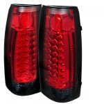 1999 GMC Yukon Red and Smoked LED Tail Lights