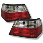 Mercedes Benz E Class 1986-1995 Red and Clear LED Tail Lights