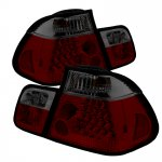 2003 BMW 3 Series E46 Sedan Red and Smoked LED Tail Lights