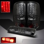 2004 Ford F150 Smoked LED Tail Lights and LED Third Brake Light
