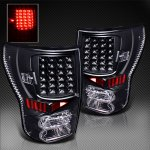 2013 Toyota Tundra Black LED Tail Lights