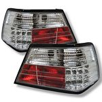 1995 Mercedes Benz E Class Clear LED Tail Lights