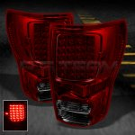 Toyota Tundra 2007-2013 Red and Smoked LED Tail Lights