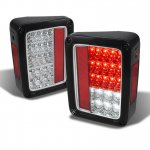 2014 Jeep Wrangler JK Clear LED Tail Lights