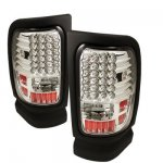 Dodge Ram 2500 1994-2002 Clear LED Tail Lights
