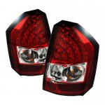 Chrysler 300C 2008-2010 Red and Clear LED Tail Lights