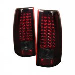 2003 GMC Sierra Red and Smoked LED Tail Lights