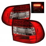 Porsche Cayenne 2003-2007 Red and Clear LED Tail Lights