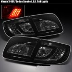 Mazda 3 Sedan 2003-2008 Smoked LED Tail Lights
