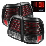 2003 Toyota Land Cruiser Black LED Tail Lights