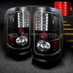2000 Dodge Ram Black LED Tail Lights