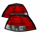 Pontiac G8 2008-2009 Red and Clear LED Tail Lights